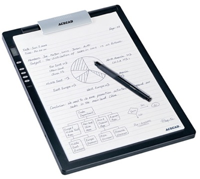 SolidTek ACECAD DigiMemo digital notepad